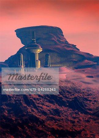 Colonised Mars, artwork