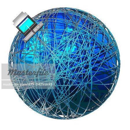 Global communications, conceptual artwork