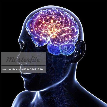 Brain activity, conceptual computer artwork.