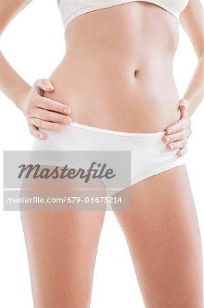 Woman's abdomen.