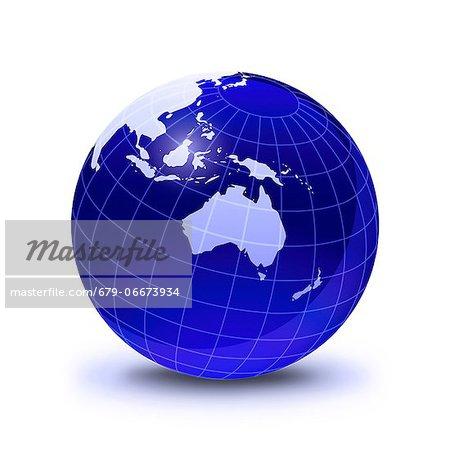 Australasia, computer artwork.