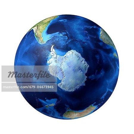 Antarctic, computer artwork.