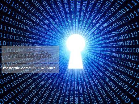 Data security, conceptual computer artwork.