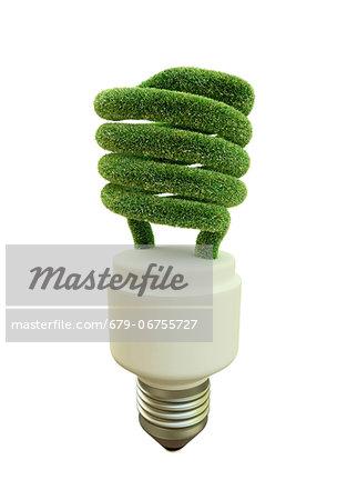 Green energy, conceptual computer artwork.