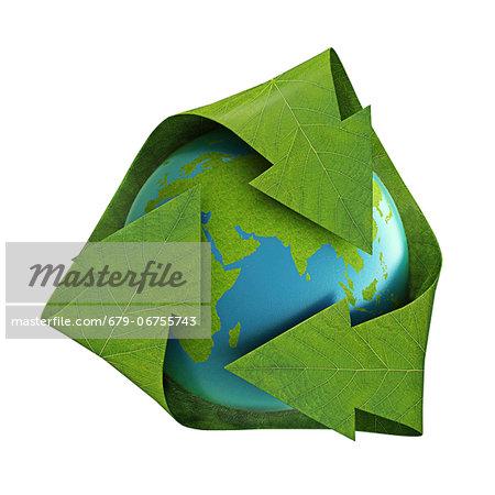 Recycling, conceptual computer artwork.