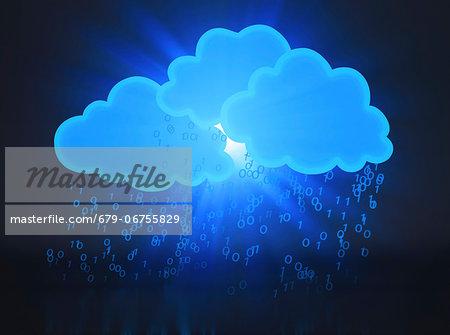 Cloud computing, conceptual computer artwork.