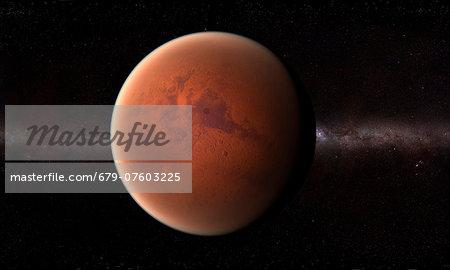 Mars, computer artwork.