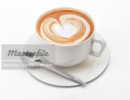 Cappuccino, computer artwork.