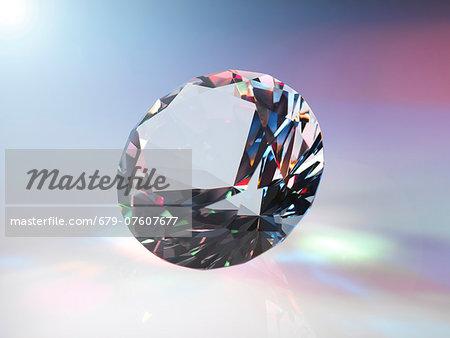 Diamond refracting light.