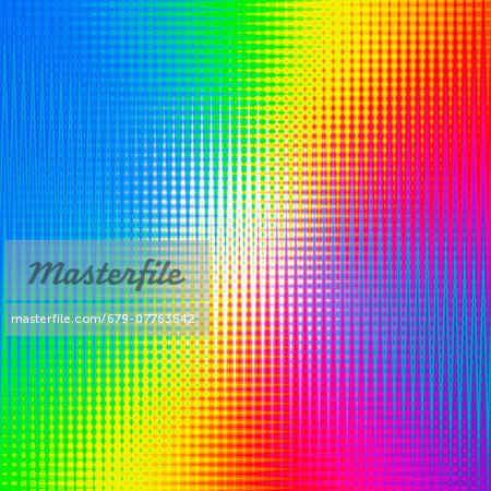 Prismatic pattern, computer artwork.