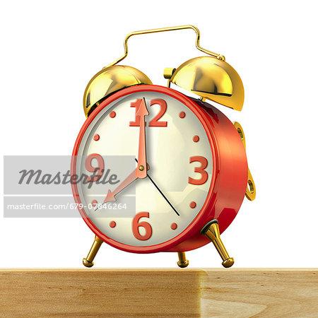 Alarm clock, computer artwork.