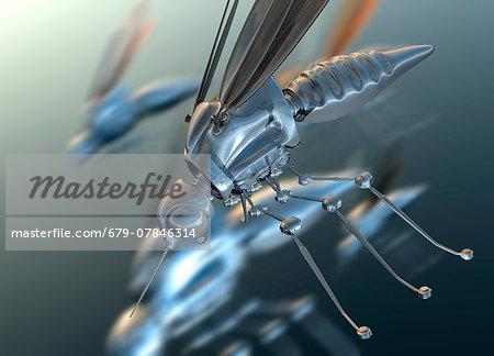 Nano drones, computer artwork.