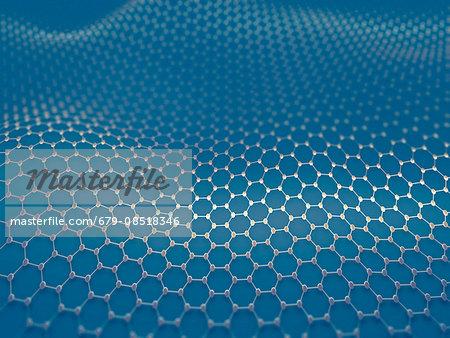 Graphene sheet, illustration.