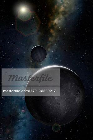 Artwork of Jovian Moon Ganymede