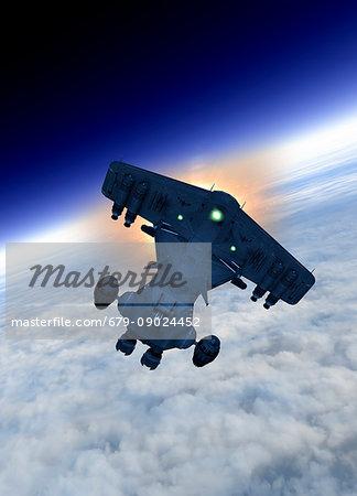 Space vehicle, illustration.