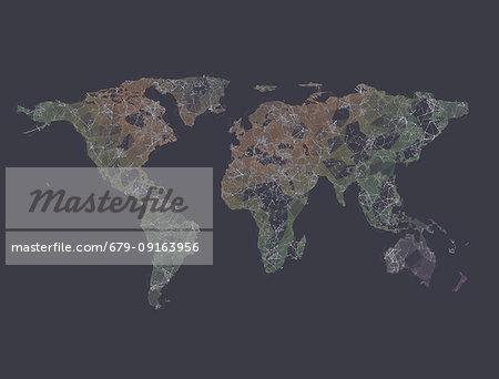 Global connectivity, illustration.