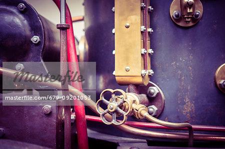 Steam engine, close-up.