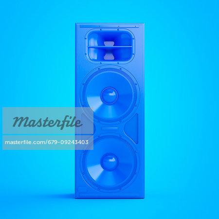 Illustration of a blue speaker.