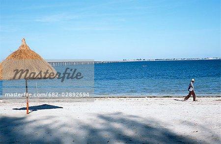 Mainland Beach and Causeway across to Island
