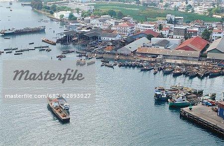 Harbour Scene - Aerial View