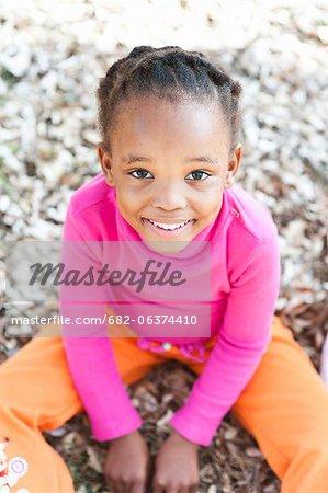 Portrait of smiling girl, Johannesburg, South Africa