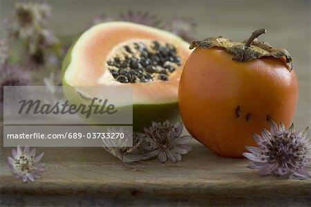 Papaya and kaki