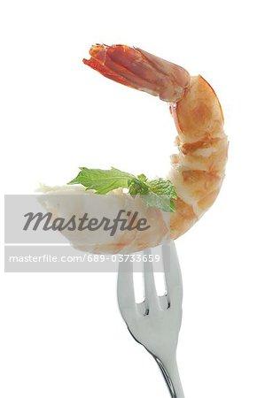 Shrimp on a fork