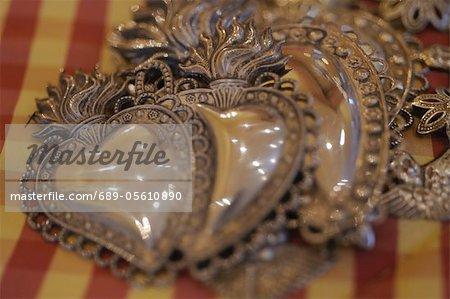 Ornate decorative hearts