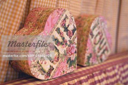 Heart-shaped box with inscription Love