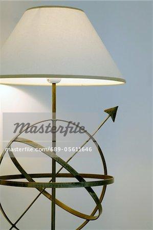 Standard lamp and sundial