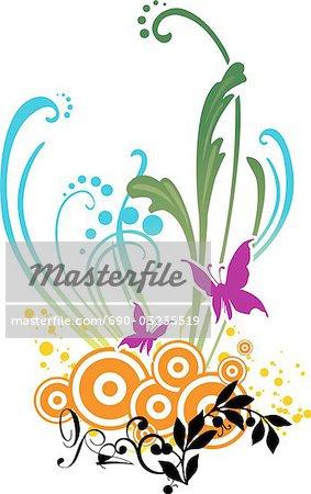 Digital composite background