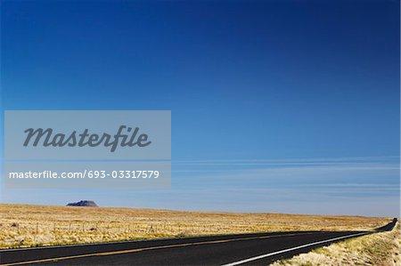 Empty road in desert, USA