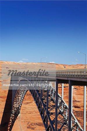 Bridge spanning canyon, USA