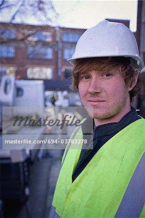A portrait of a builder