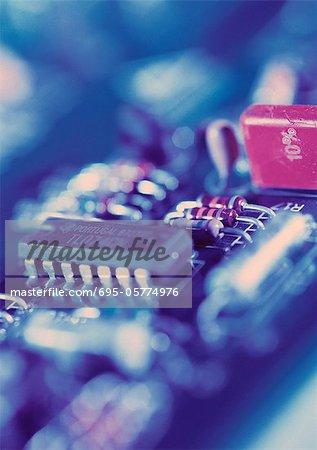 Computer circuits, close-up