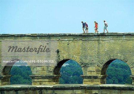 France, Languedoc-Roussillon, Gard, Pont du Gard