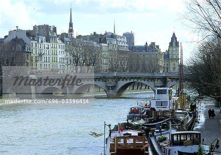 France, Paris, River Seine