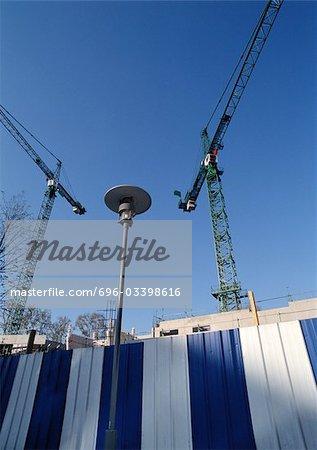 Cranes, low angle view