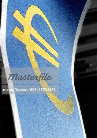 Euro Symbol Close Up Stock Photo Masterfile Premium Royalty