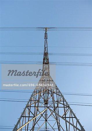 Electric pylon, low angle view