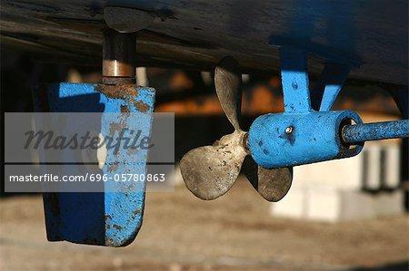 Boat propeller, close-up