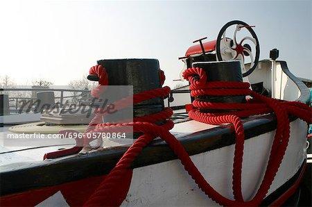 Boat riggings, close-up