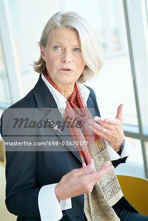 Businesswoman explaining