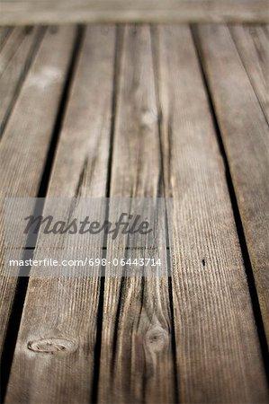 Detailed shot of wooden planks