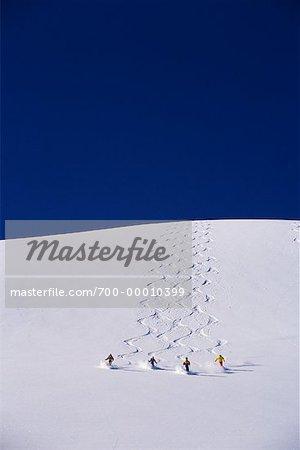 Skiing in Valemont British Columbia, Canada