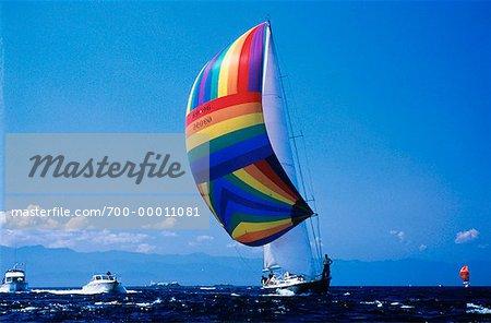 Sailing, Off Victoria British Columbia, Canada
