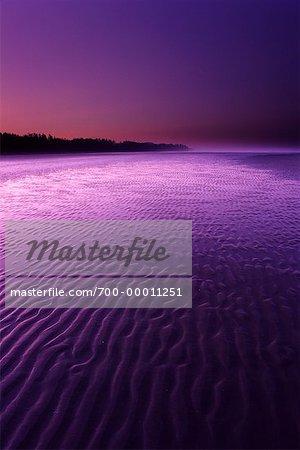 Long Beach National Park at Sunset, Vancouver Island British Columbia, Canada