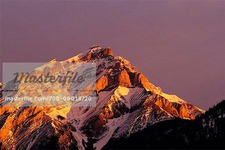Mount Cascade at Sunrise Banff National Park Alberta, Canada