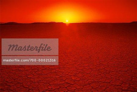 El Mirage Dry Lake at Sunset California, USA