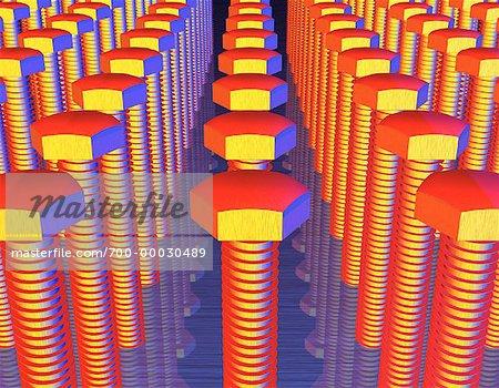 Rows of Screws
